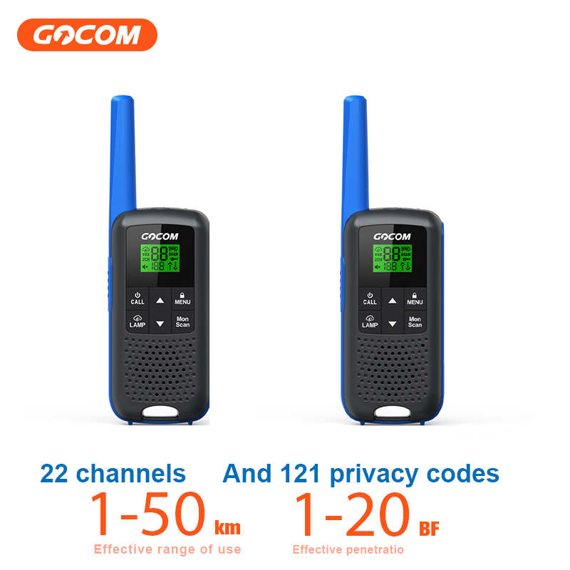 New Design 2pcs GOCOM G600 Long Range Two Way Radios Business Walkie Talkie 16 Km