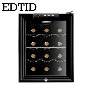 Wine-Cooler Refrigerating Cold-Storage-Cabinet Deep-Freezer EDTID Ce Ice-Cuber-Box Red