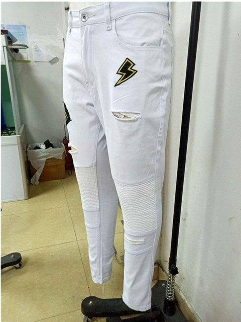 Skinny Pleated Jeans 8