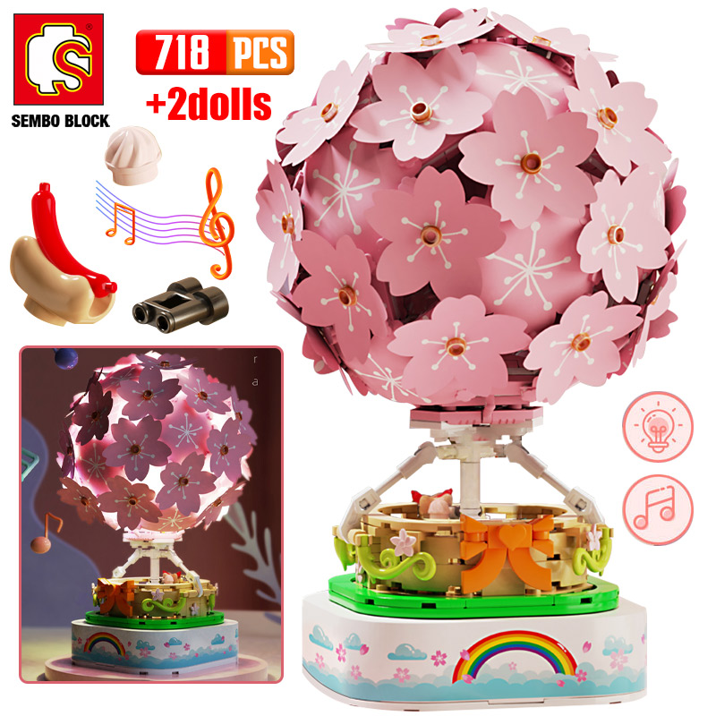 SEMBO Block Creative Sakura Hot Air Balloon
