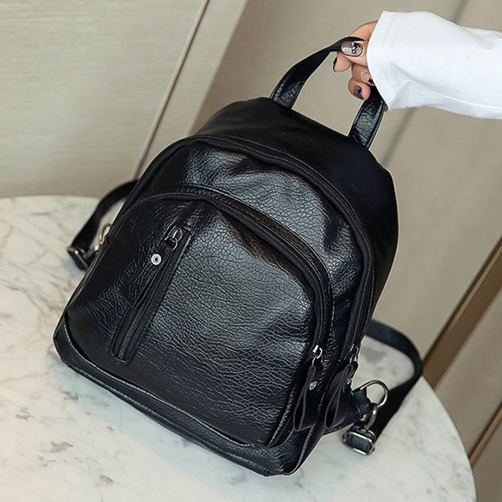 Whoohoo Leather Backpack Women Multifunction Shoulder Bookbags School Bags For Teenage Girls Cute Fashion Backpack Girl Rucksack