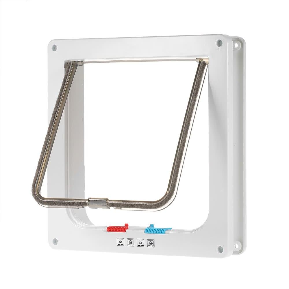 Controllable Access Openings 4-Way Locking Indoor/Outdoor Pet Door Kit Dog Sliding Cat Door Grass For Sliding Doors