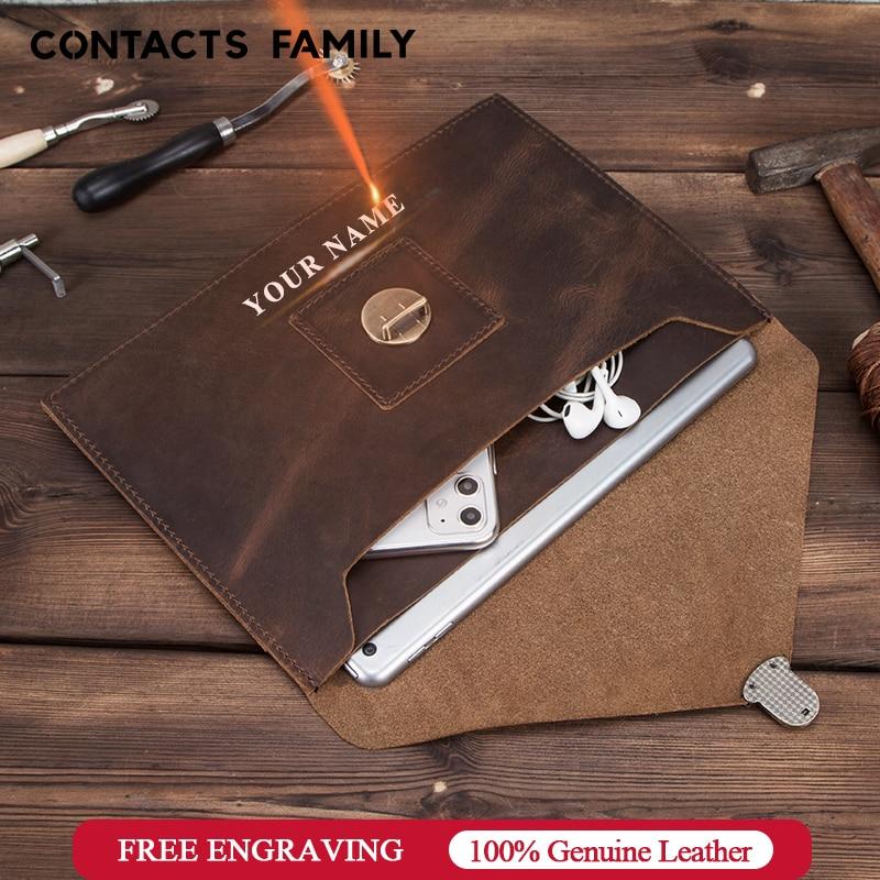 Retro Genuine Leather Envelope Case For IPad Pro 10.5