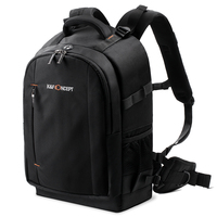 K&F Concept Camera Backpack Rucksack Waterproof with Rain Cover for 13.3'' laptop for Men/Women DSLR Camera Canon Nikon Sony