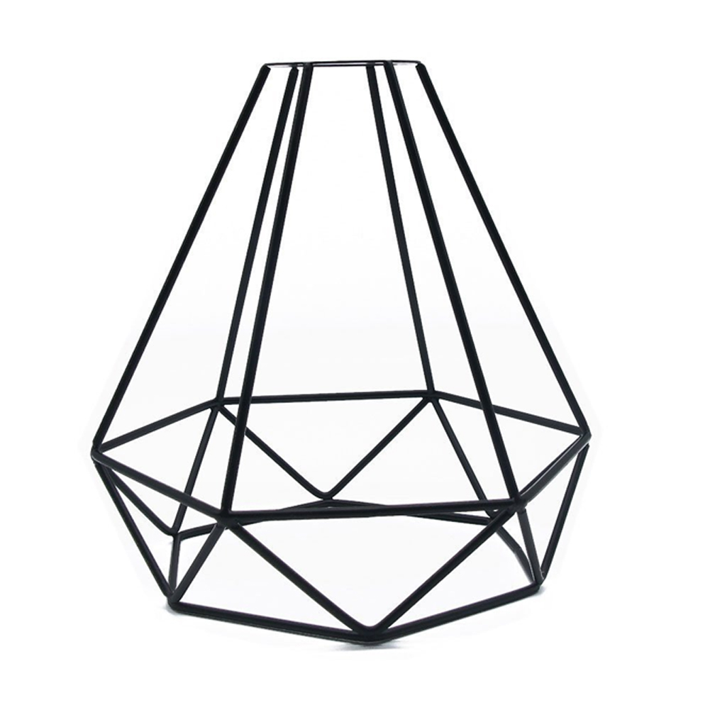 DIY Accessories Retro Ceiling Shop Indoor Hanging Home Pendant Vintage Iron Light Cover Decorative Cage Shape Lampshade