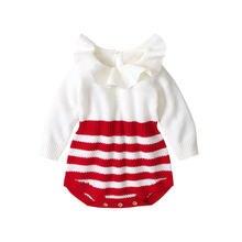 От 0 до 18 месяцев Детская вязальная кукла воротник полосатый