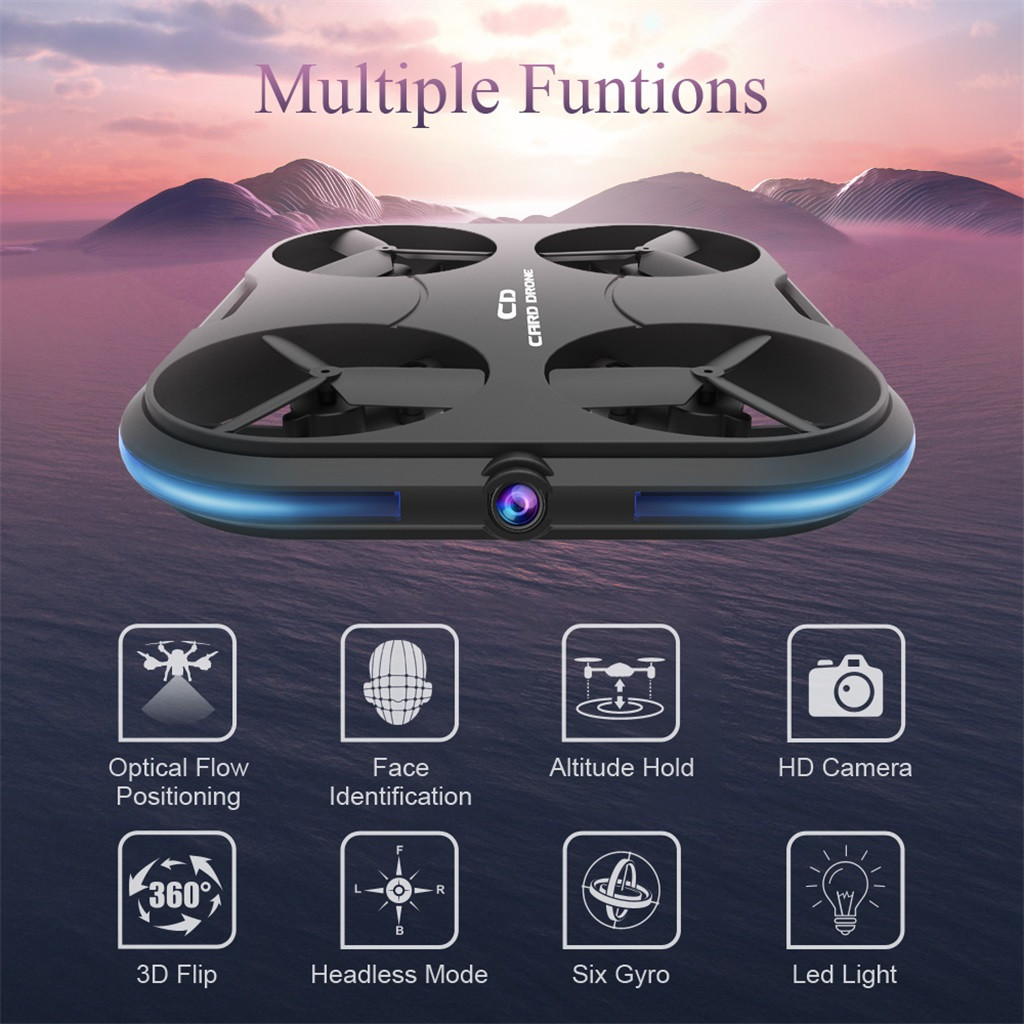 Fishing Drone Iqos  KAIDENG K150 Card Thinnest Drone K150 Without Camera Altitude Hold RC Quadcopter Pgytech Landing Pad  2019