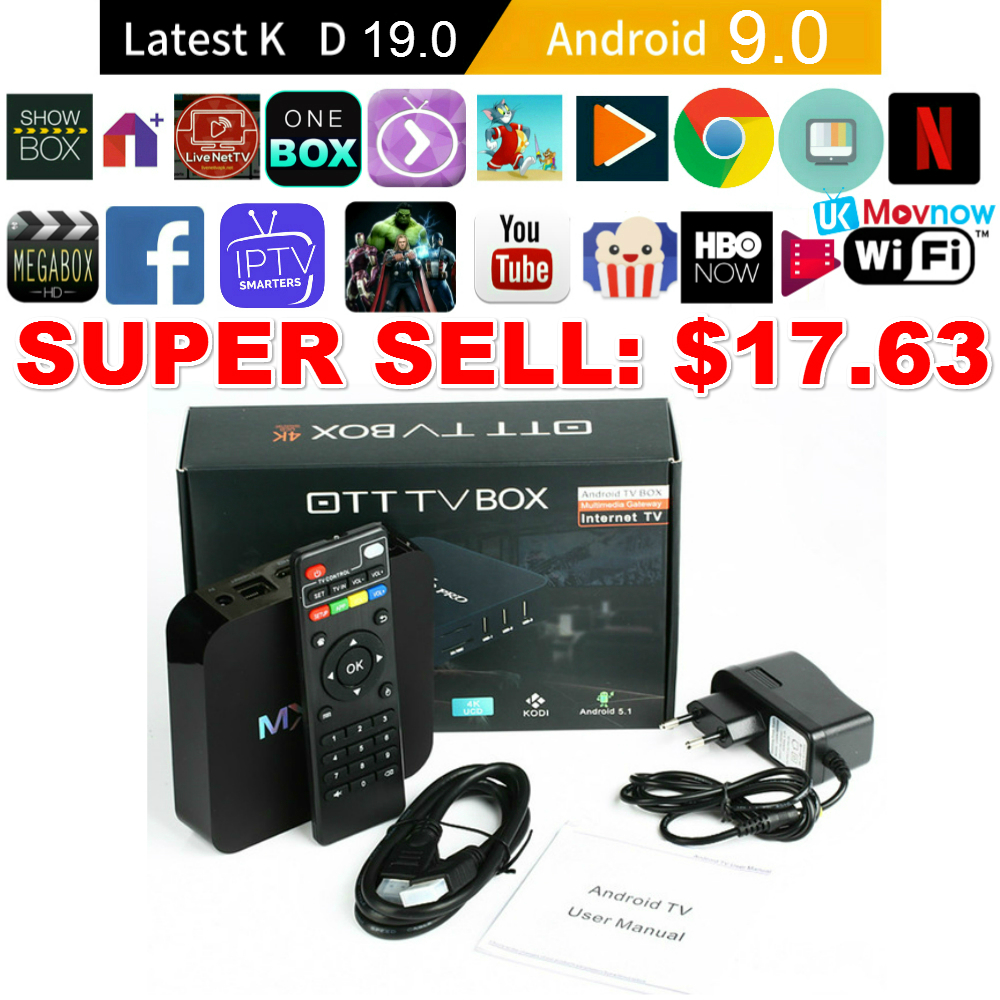1 gb 8 gb rk3229 4 k 9.0 ghz wifi quad core smart tv caixa de mídia jogador ttvbox mx pro 4 k android caixa de tv iptv android 2.4 os