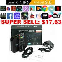 TTVBOX MX Pro 4K Android TV Box IPTV Android 9,0 OS 1GB 8GB RK3229 4K 2,4 GHz WIFI Quad Core Dispositivo de TV inteligente reproductor de medios