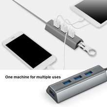 USB Type C Dock Station HDMI-compatibl for Laptop 4 Port USB 3.0 Hub with Power Port for PC Printer Flash Drive Portable HDD SSD