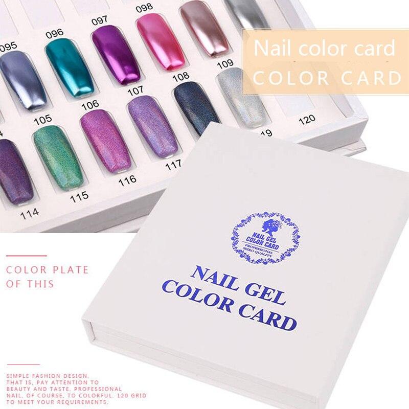 Professional Model  Nail  Nail Gel Polish Color Display Box Book Dedicated 120 Color Card Chart Painting Manicure Nail Art Tools