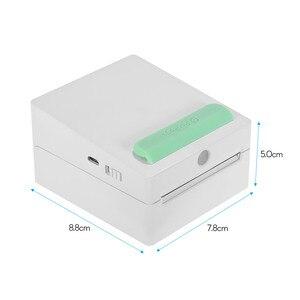 Image 4 - Mini bolsillo inalámbrico BT impresora portátil Mini cámara Clip Diseño etiqueta pegatina de recordatorio AR foto impresora para Android iOS Smartphone