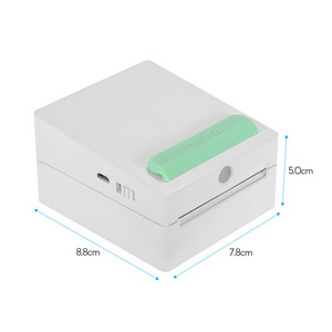 Image 4 - Mini bolso sem fio bt impressora portátil mini clipe de câmera design etiqueta memo adesivo ar photo printer para android ios smartphone