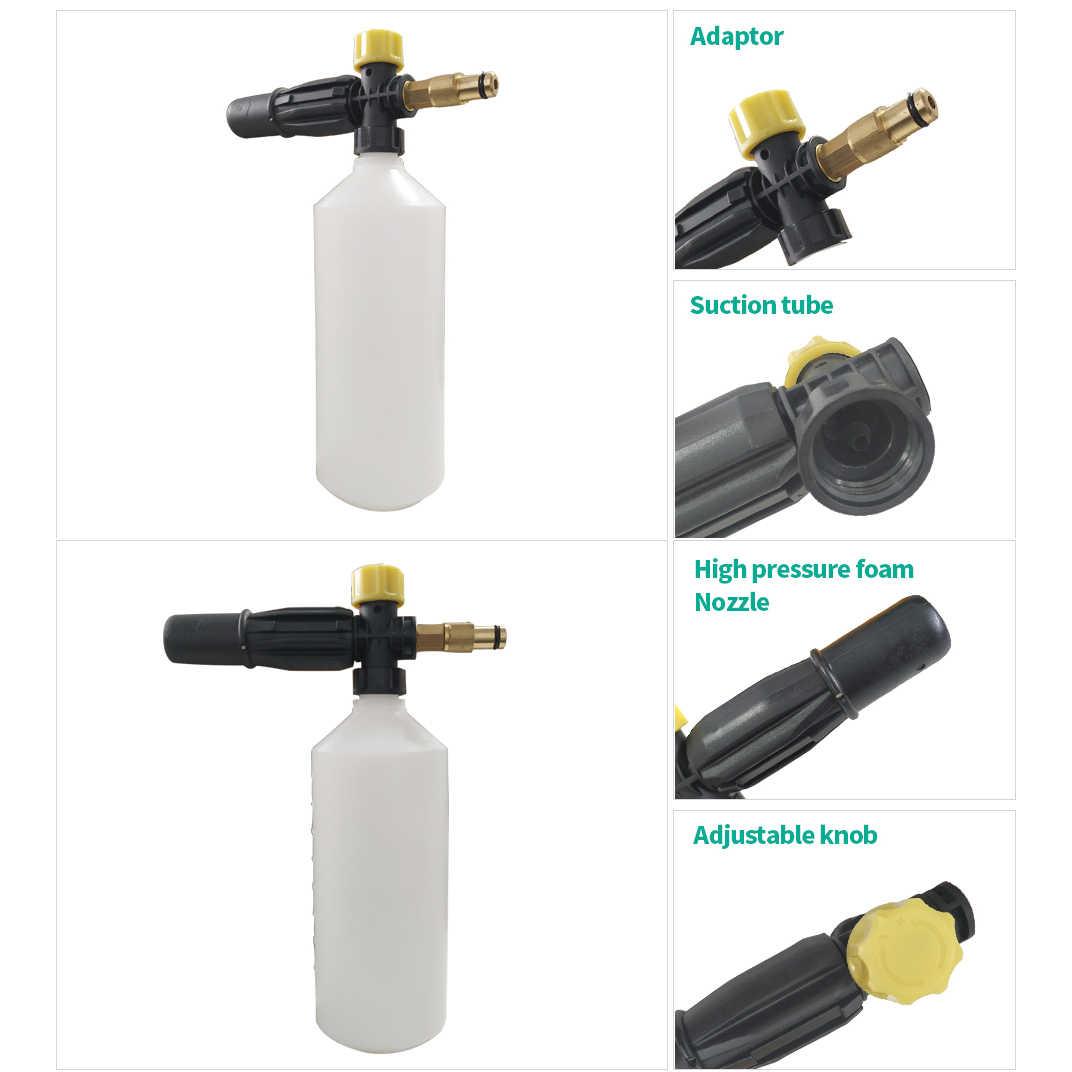 Arandela de espuma para nieve de alta presión boquilla de espuma de cubierta para Karcher Lavor AR Bosch AQT negro y cubierta Patriot Makita lavadores de automóviles