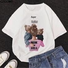 ZOGANKIN Girl Mom T shirt Women Mother's Love Print Black T-shirt Harajuku Mama TShirt Vogue Tops tee shirt Femme