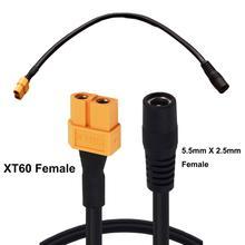 1pc XT60 XT 60 żeńskie gniazdo do DC 5.5mm x 2.5mm żeńskie gniazdo kabel zasilający dla monitor fpv Drone przewód zasilający przewód 30CM