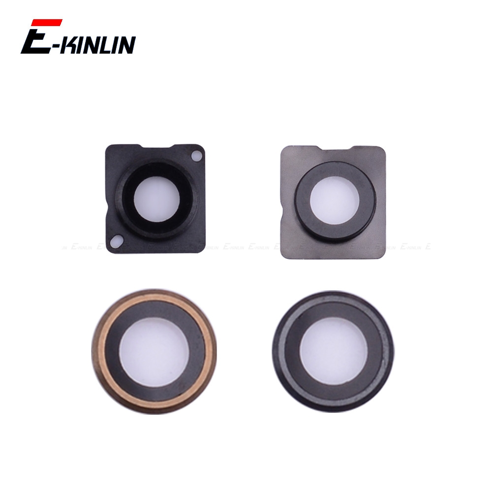 New Back Rear Camera Glass Lens Ring Cover For IPhone 4 4S 5 5S SE 5C 6 6S Plus With Frame Holder Replacement Parts
