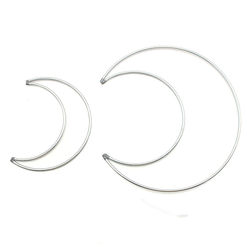 1pack/lot Moon Heart Shape 50-300mm Big Dream Catcher Ring Craft Metal Rings For Dream Catchers Hoops DIY Hanging Connectors