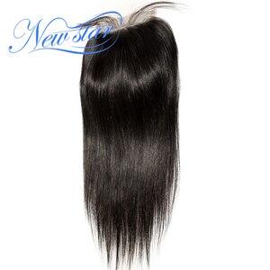 Image 4 - NEW STARบราซิลตรงผม 4 Bundles Virgin Hair Hair Extension 4X4 ปิดลูกไม้ที่ยังไม่ได้ประมวลผล 100% ทอผ้าดิบ