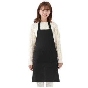 Delantal liso de Color liso para hombre y mujer, delantal para cocinar en la cocina, cocina, cocina casera, delantal de cocina @ 35
