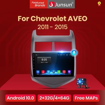 Junsun V1 pro 2G+128G Android 10 For Chevrolet AVEO 2 2011 - 2015 Car Radio Multimedia Video Player Navigation GPS 2 din dvd