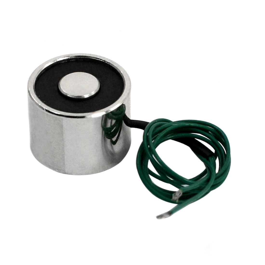 Uxcell 12V 0.24A 2.5Kg 3mm Thread Dia 24cm Two Wires Electric Lifting Magnet Electromagnet Solenoid 20x15mm Green Wire Leads