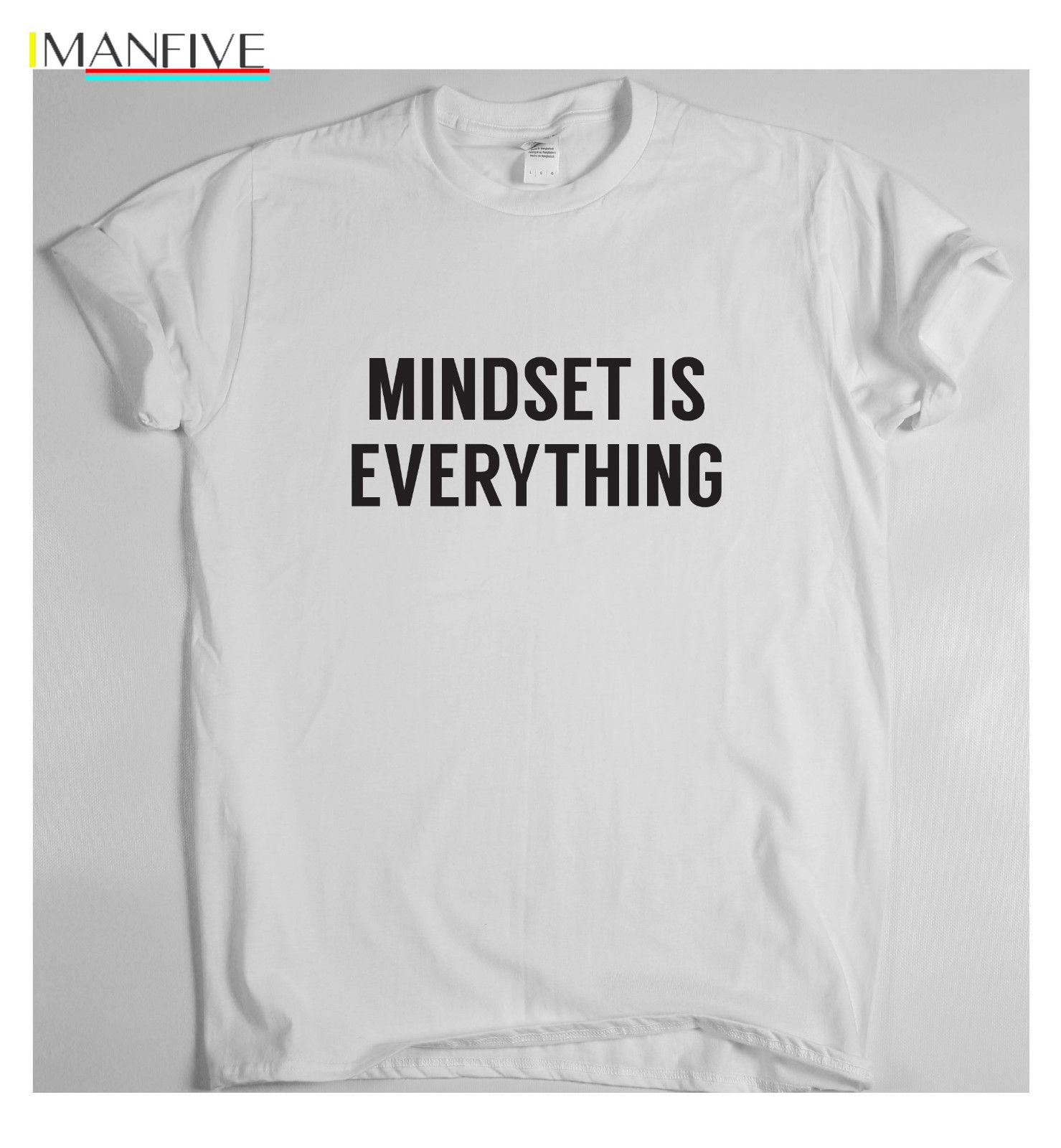 MINDSET IS EVERYTHING motivational t shirt training sport money running tee win 2019 Newest Fashion