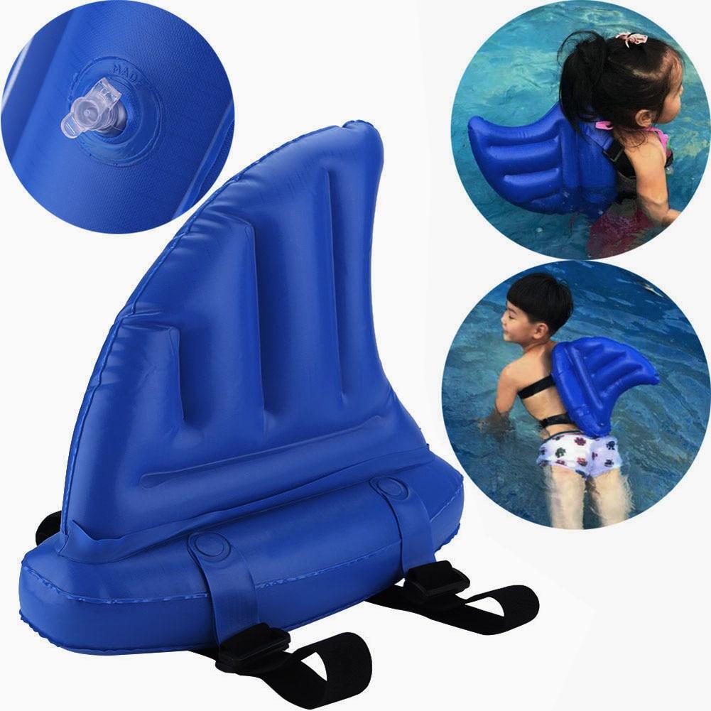 Shark Shape Inflatable Children Swimming Pool Life Buoy Floats Swimming Rings Kid Swim Fin Kid's Toy Swim Artifact Shark Fins