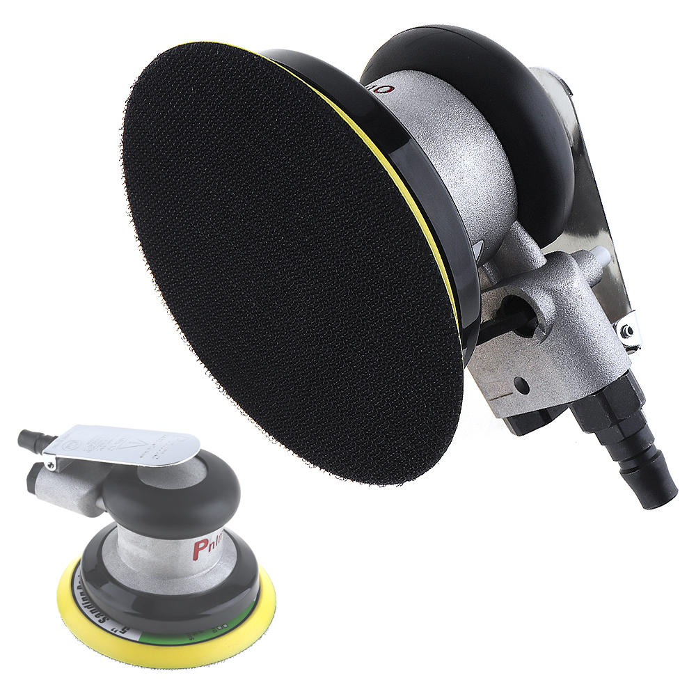 5 Inch Impulse Non-vacuum Circular Pneumatic Air Sander Sandpaper Random Orbital Polisher Grinding Machine Hand Power Tools