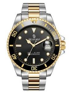 Часы мужские механические из нержавеющей стали, брендовые Роскошные автоматические водонепроницаемые деловые спортивные наручные, черные