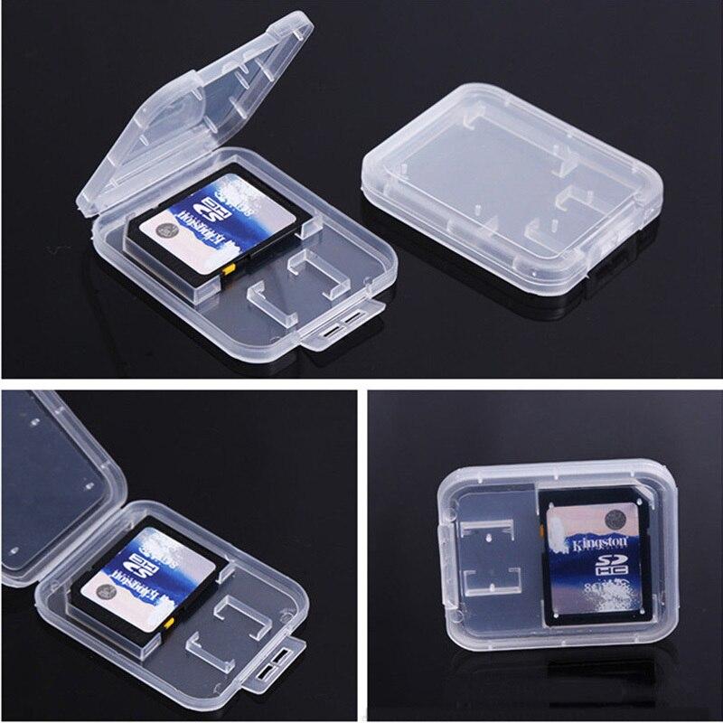 Image 2 - Карты SD/TF карта памяти защитная коробка для Камера небольшая белая коробка высокого качества пластиковый, прозрачный, для карт чехлы-in Чехлы для карт памяти from Компьютер и офис