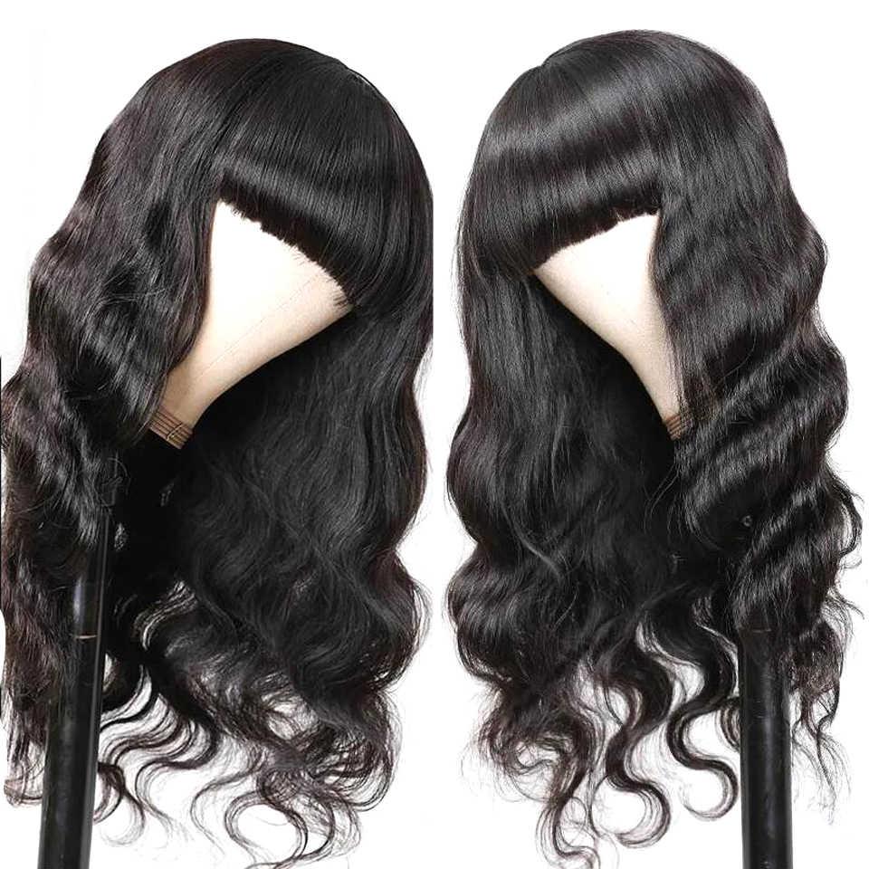 Lanqi pelucas de pelo brasileño, peluca de onda del cuerpo 4x4, peluca con cierre de encaje, pelucas de cabello humano baratas para peluca para mujer afroamericana, sin Remy, densidad del 150%