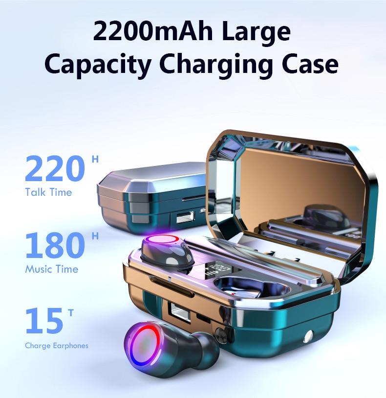 Brezžične bluetooth slušalke z mikrofonom imajo športne - Prenosni avdio in video - Fotografija 2