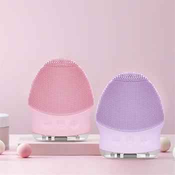 Silicone Facial Cleanser Waterproof Face Scrub Face Cleansing Brush Electric Washing Brush Deep Pore Exfoliator Skin Care TSLM1 face washing product topicrem t0107 facial cleansing wash gel scrub skin care