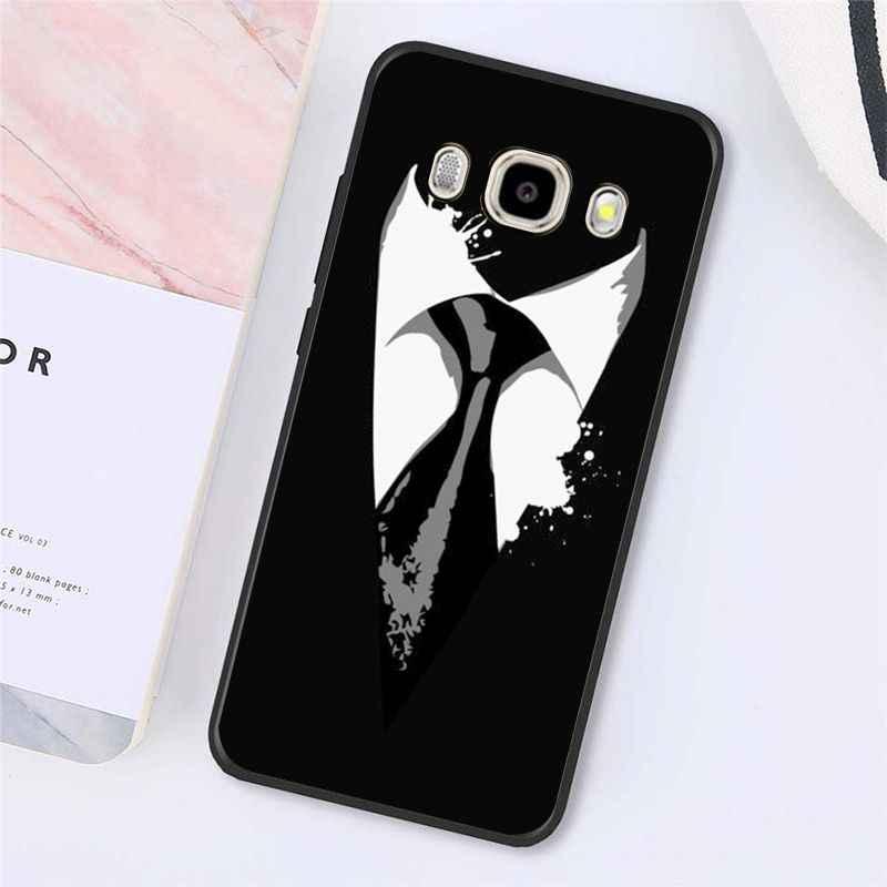 Babaite Cool noir homme costume blanc chemise cravate coque de téléphone couverture arrière pour Samsung Galaxy J7 J6 J8 J4 J4Plus J7 DUO J7NEO J2 J7 Prime
