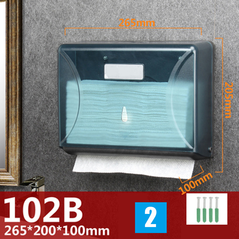 2020 Hot Wall-Mounted Bathroom Tissue Dispenser Paper Towel Storage Box Holder Waterproof Dustproof VJ-Drop