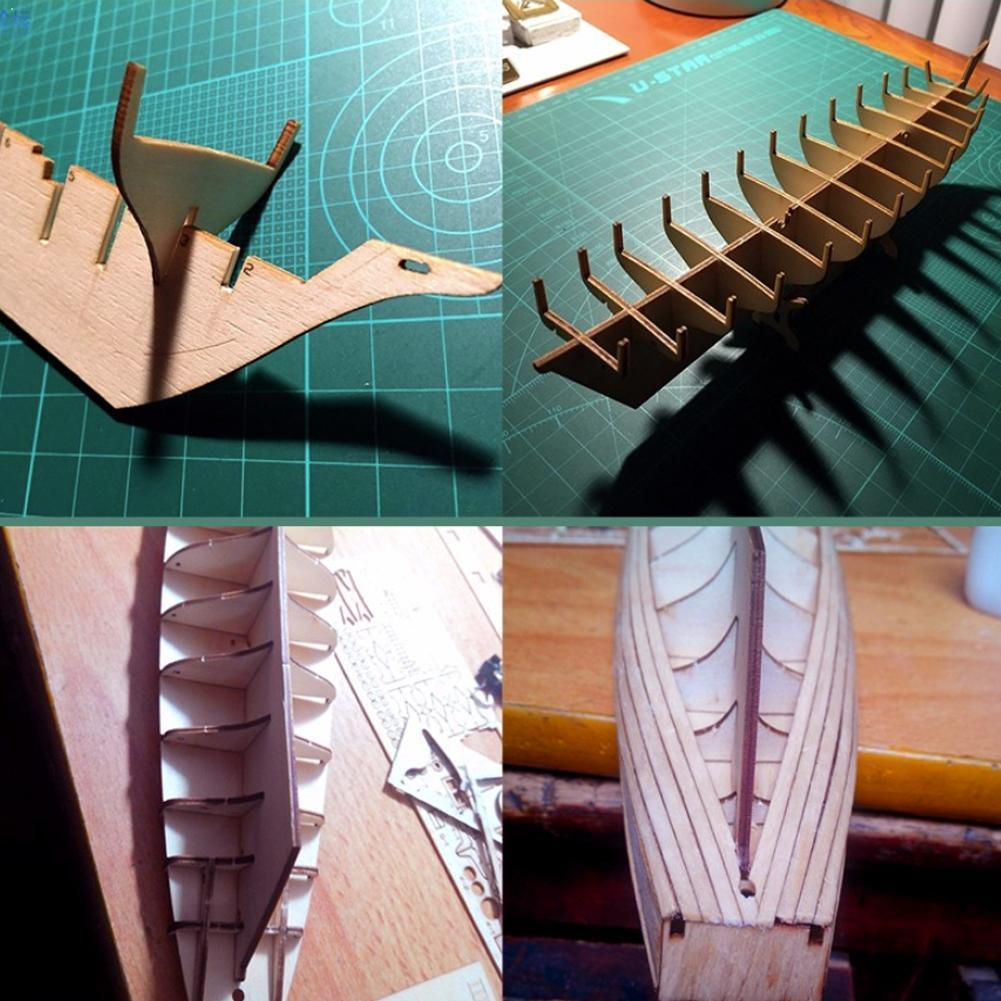 1100 Harvey Sailboat деревянная модель сборки DIY 3D Детский комплект лодки ручной работы корабль головоломка игрушки старинный Y1X8