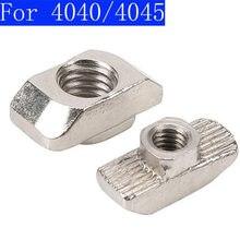 Для 4040 4545 алюминиевые штранг-прессования Т-образные гайки алюминиевые профили гайки, M4/M5/M6/M8 Гайки