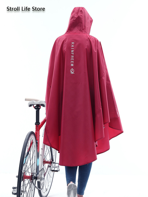 Adult Bicycle Rain Poncho Rain Coat Women Jacket Red Raincoat Men Anti- Riding Windbreaker Rainwear Capa De Chuva Gift Ideas 2