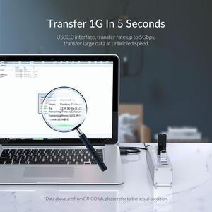 Image 3 - منفذ USB من ORICO يدعم BC1.2 شحن من الألومنيوم 4 منافذ USB3.0 فاصل مع محول طاقة 12V2A لملحقات الكمبيوتر المحمول من MacBook