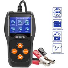 KONNWEI-Probador de batería de coche, auto diagnóstico, con pantalla digital a color, de 12V, prueba de fallos, 100 a 2000CCA, KW600