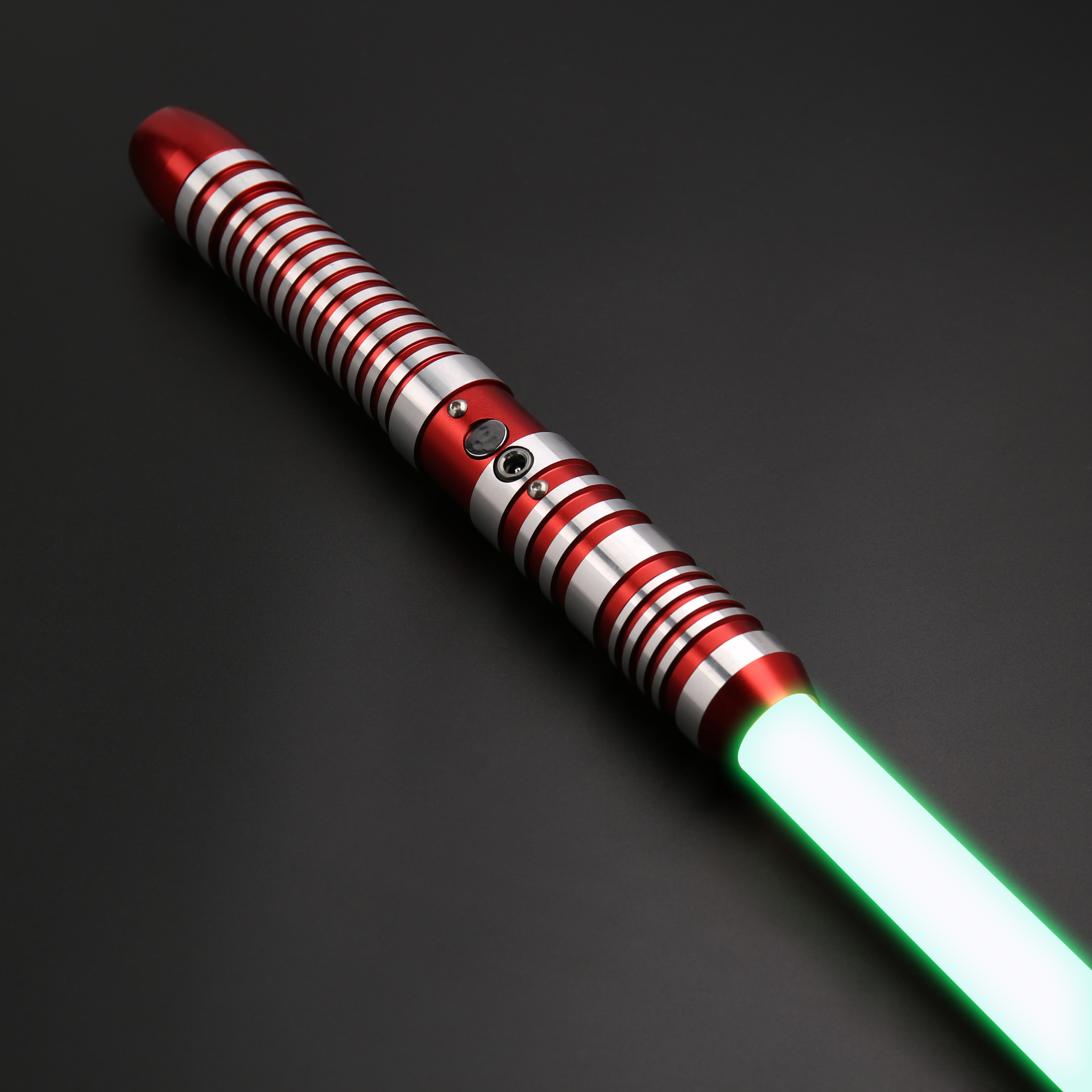 SaberFeast Blaster Lightsaber Heavy Dueling RGB 6 Colors LED with 7/8 inch Removable Blade Metal Handle FOC Cosplay Kids Toy-04
