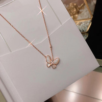 Hot goods s925 sterling silver, French quality, fashion jewelry, butterfly necklace, lady necklace, sweet temperament,