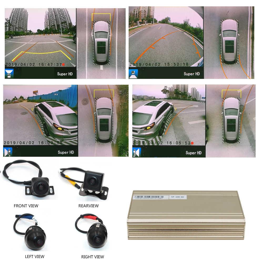 Smartour 3D HD панорамный обзор системы мониторинга 360 градусов Вождение птица вид панорама камеры автомобиля 4-CH DVR рекордер с g-датчиком