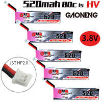 Gaoneng GNB FPV batería Lipo de 520mAh 3,8 V 80C 1S HV 4,35 V PH2.0 enchufe para Emax Tinyhawk LDARC pequeño Cine Whoop BetaFPV Drone