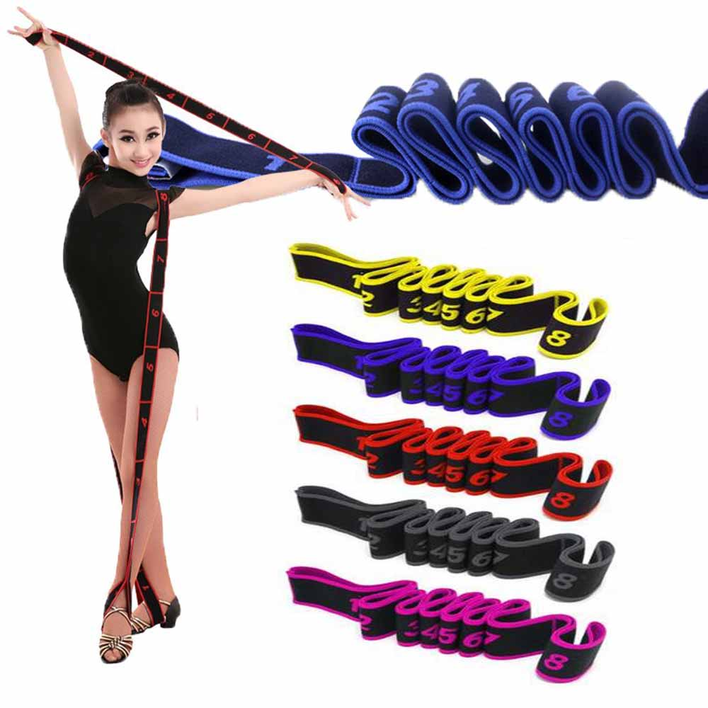 Latin Dance Elastic Stretch Belt Exercise Pull Strap Yoga Fitness Resistance Band For Adults Kids Unisex Ballet,Pilates,Gymnasti
