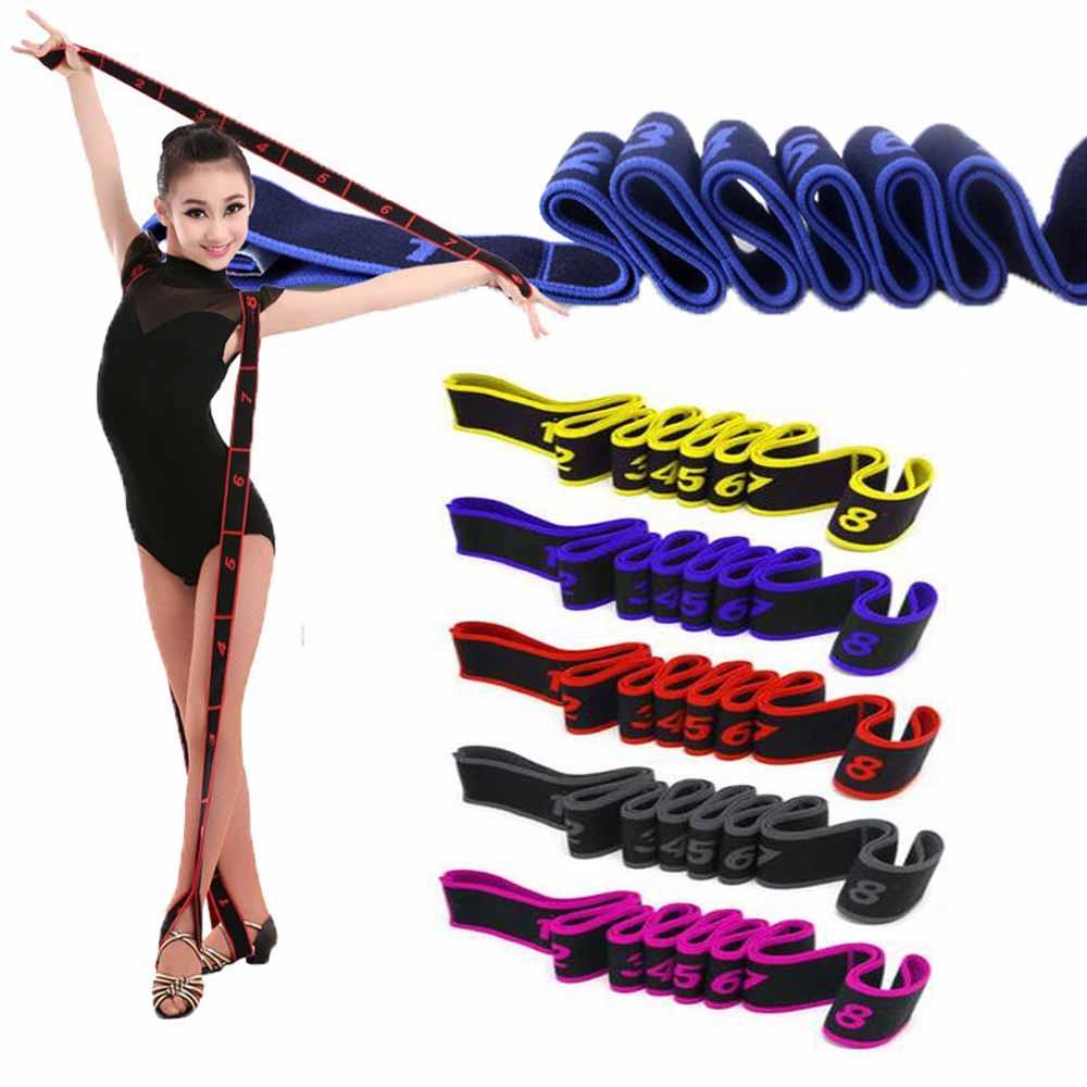 Latin Dance Elastic Stretch Belt Exercise Pull Strap Yoga Fitness Resistance Band for Adults Kids Unisex Ballet,Pilates,Gymnasti