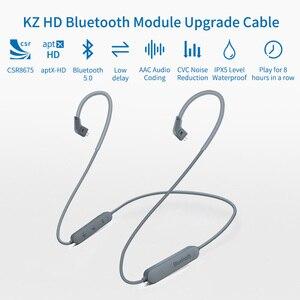 Image 5 - KZ aptX HD אלחוטי Bluetooth כבל שדרוג מודול IPX5 עם 2Pin מחבר עבור KZ ZSN/ZS10 פרו/AS16 /לZST/ZS10/AS10/AS06 CSR8675