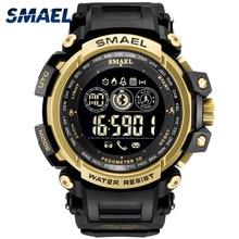 Wrist-Watches Digital Clock Led-Display Male Wtaerproof SMAEL Sport for Men Big Dial