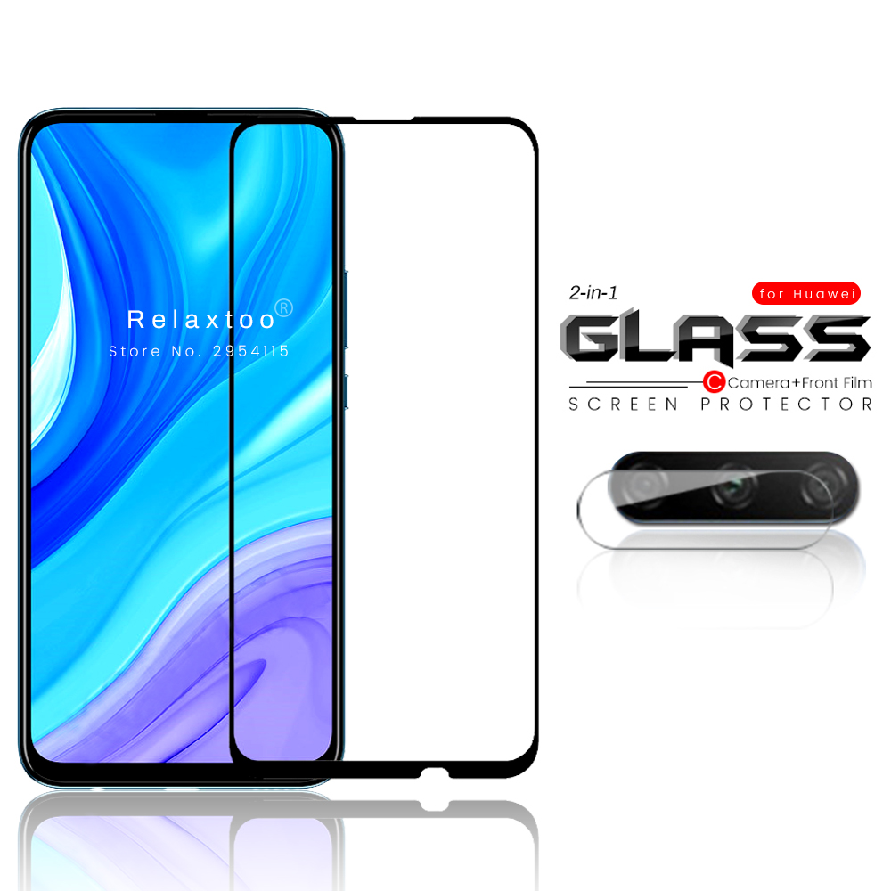 2-in-1 Camera Tempered Glass Protector For Huawei Y9s Y9 S S9y Stk-l21,stk-l22,stk-lx3 6.59'' Phone Safety Tremp Protection Film